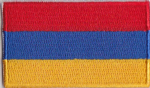 Armenia Embroidered Flag Patch, style 04